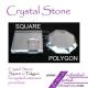 Crystal Glass Stone Glue Holder Pallet