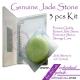 Natural Jade Stone Kit 3 Pcs Glue Adhesive Holder Pallet