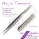 Straight A type tweezers