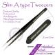 Straight Slim A type tweezers